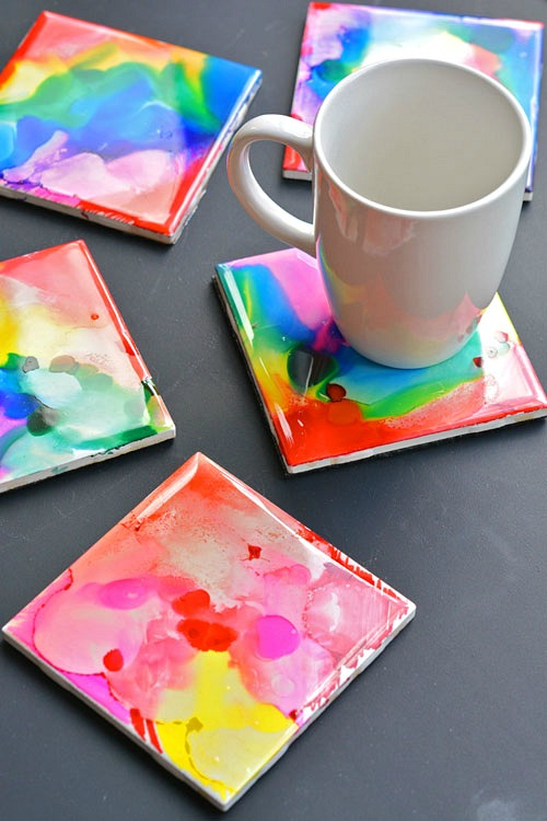 27 Sharpie Dyed Coasters
