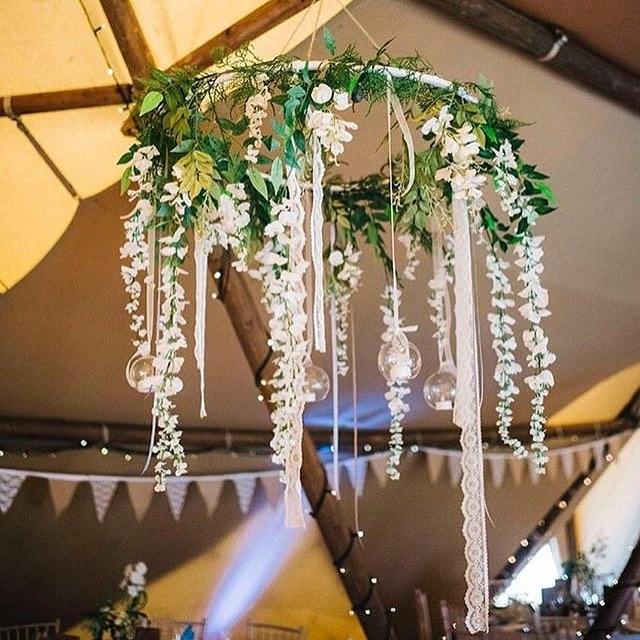 28 hula hoop wedding decoration