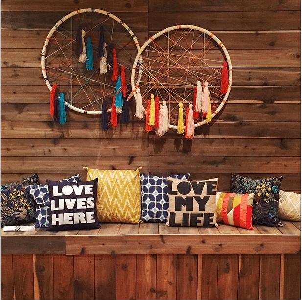 29 DIY Hula Hoop Dream Catcher Wall Art