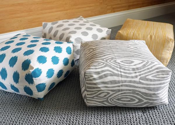 3 Boxy Floor Cushions