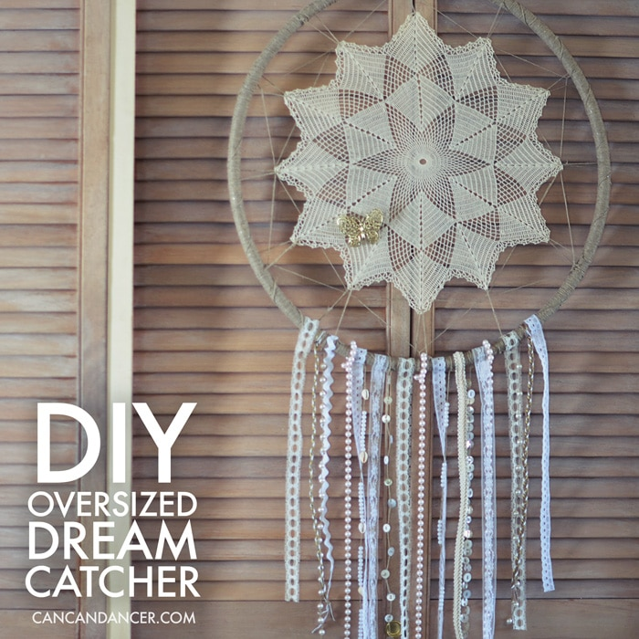 30 DIY Dream Catcher using a Hula Hoop and Doily
