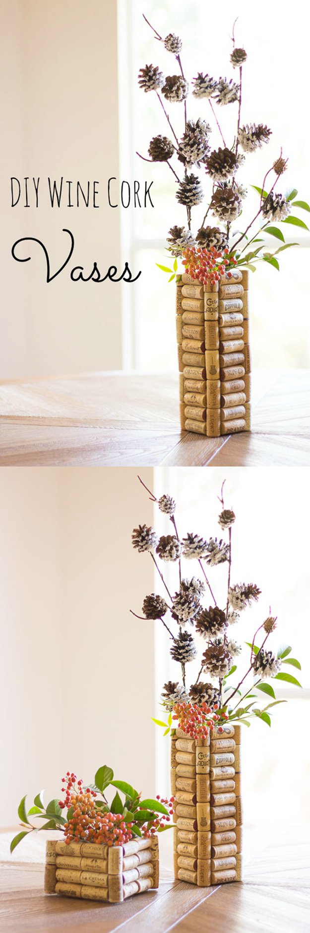 30 Wine Cork Vases