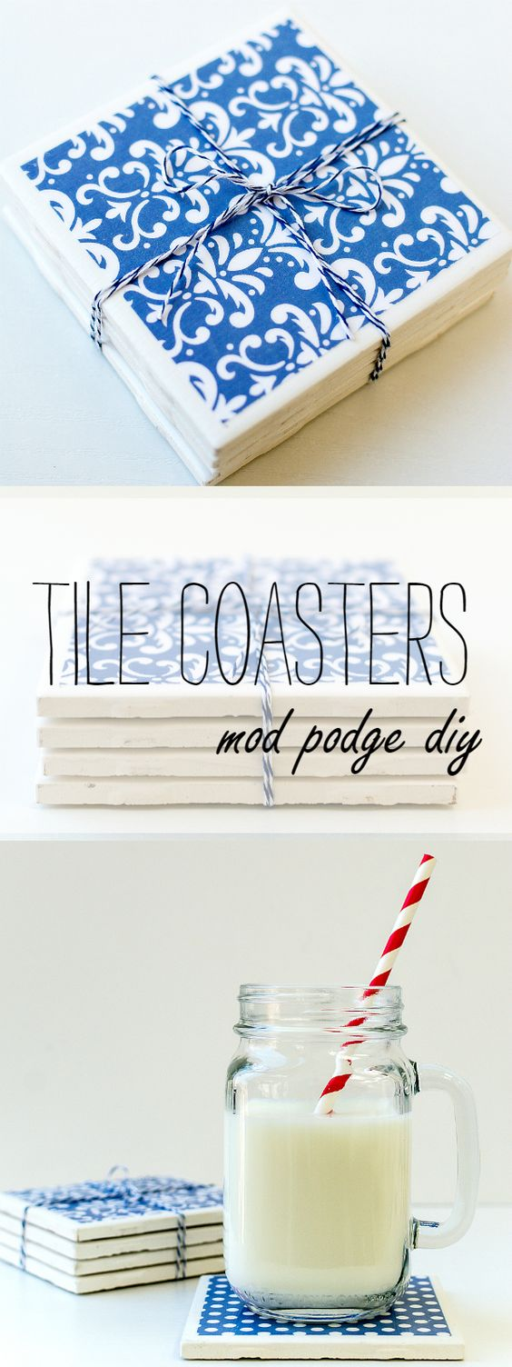 32 DIY Tile Coasters