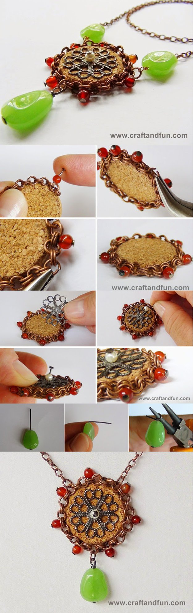 33 DIY Wine Cork Pendant