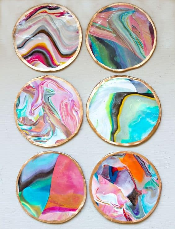 34 enjoy heavenly mix of colors with a marble coaster