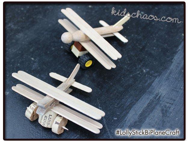 46 Lolly Stick Bi-Planes