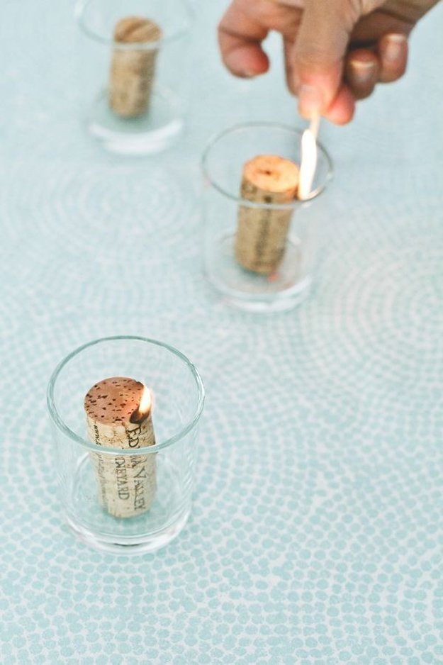 48 Wine Cork Candles