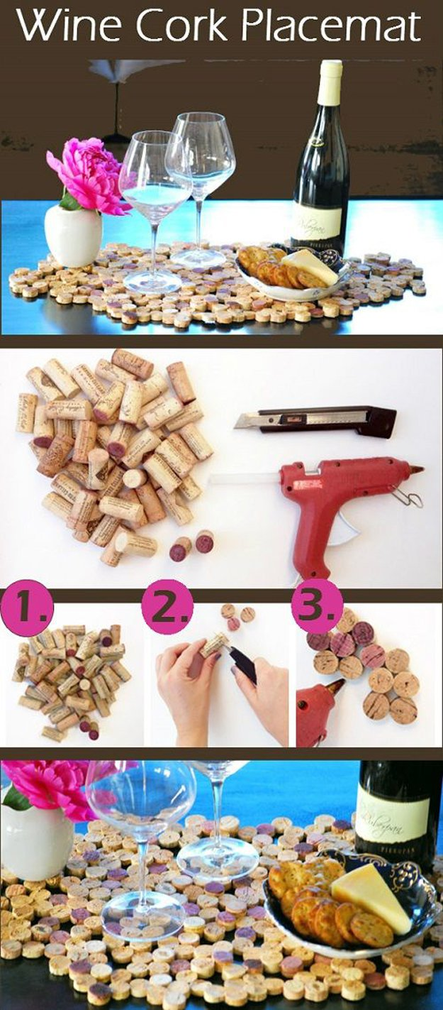 49 DIY Wine Cork Placemat
