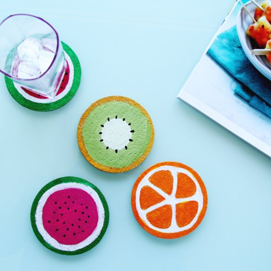5 DIY Fruit Cork Coasters