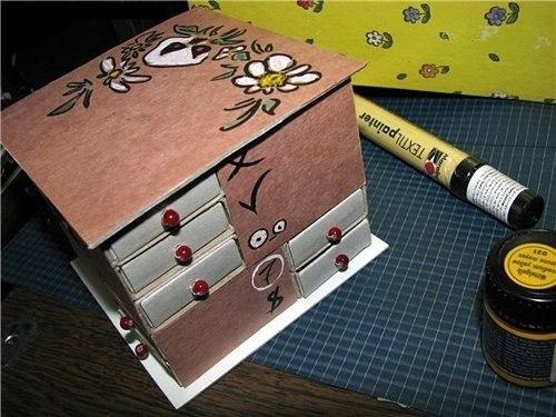 5 Jewelry drawer from match box