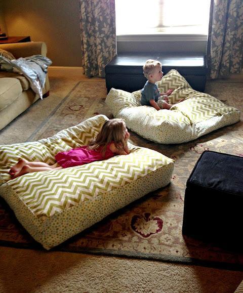 6 Giant Floor Pillows