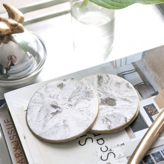 7 Faux Marble Coasters