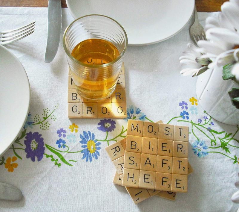 9 Scrabble Coasters