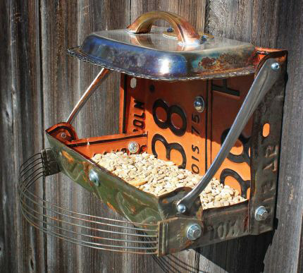 1 Upcycled Bird Feeders with Found Objects