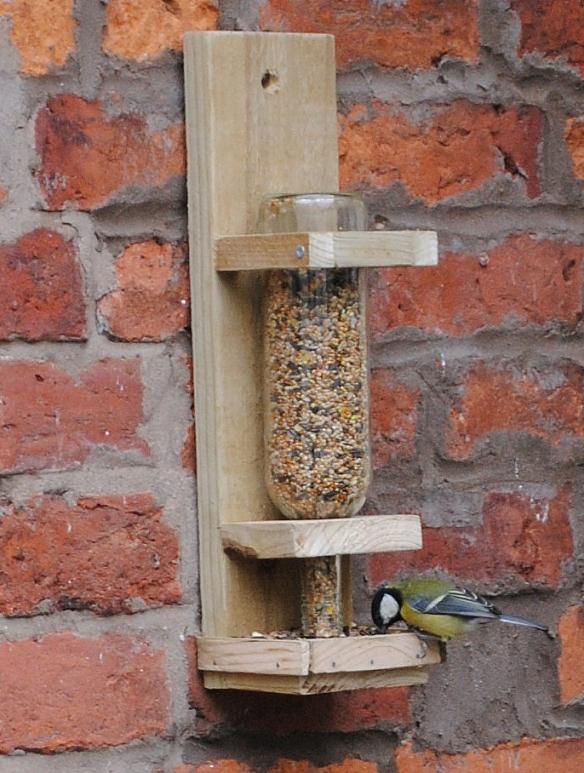 11 Wine Bottle Bird Feeder