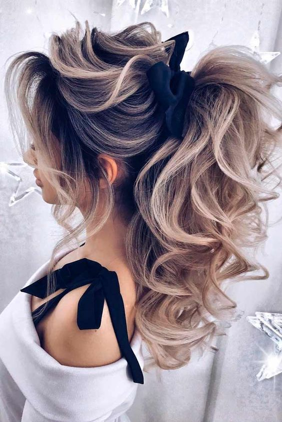 16 curly ponytail hairstyles