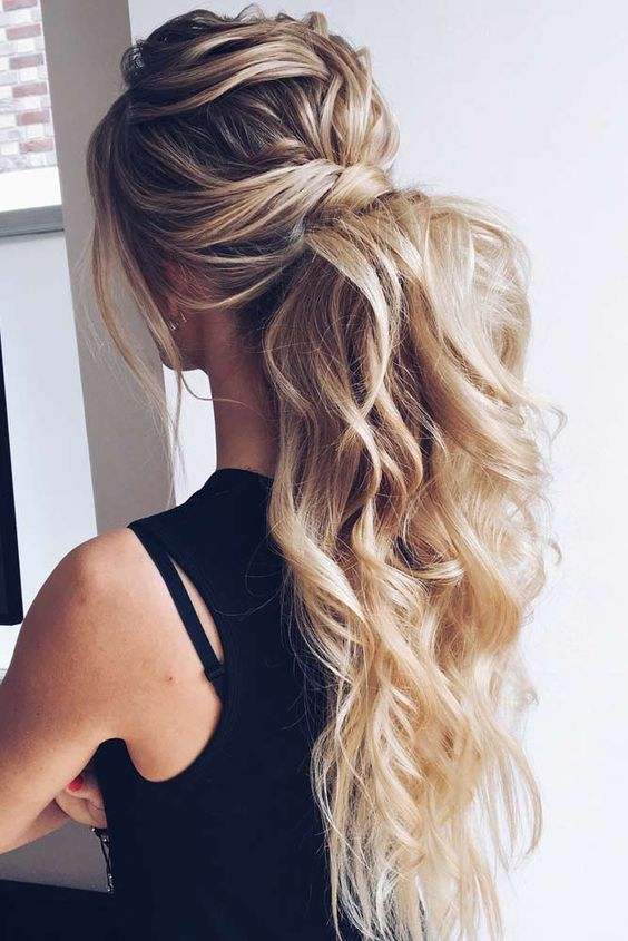 18 curly ponytail hairstyles