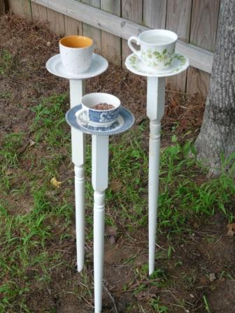 2 Tea Cup Bird Feeders