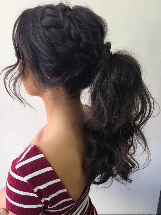 2 curly ponytail hairstyles