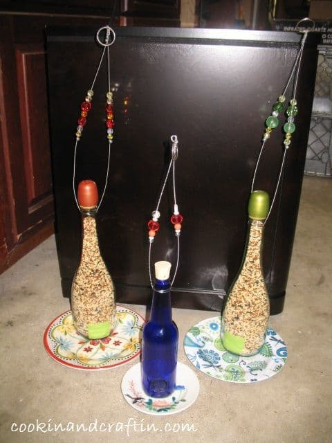 29 Wine Bottle Bird Feeder