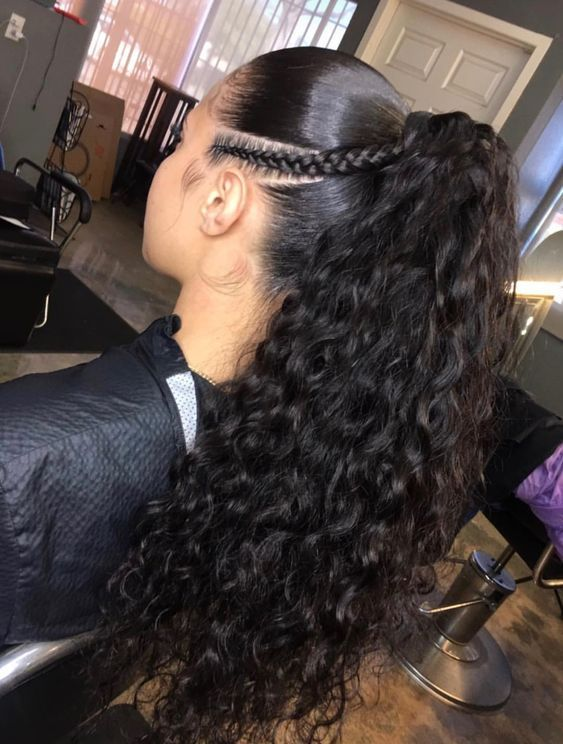 3 curly ponytail hairstyles