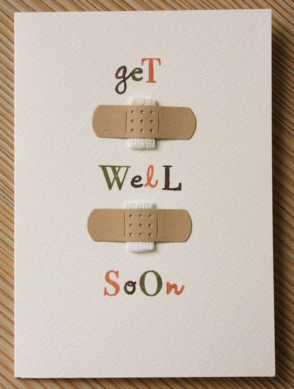 4 Handmade Get Well Soon Cards