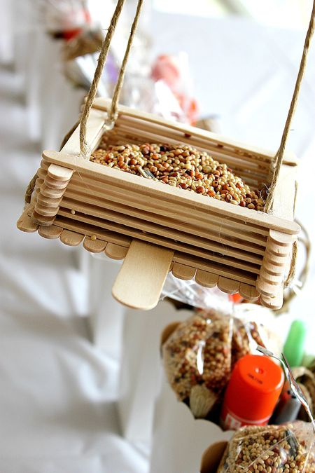 4 Popsicle Stick Bird Feeder