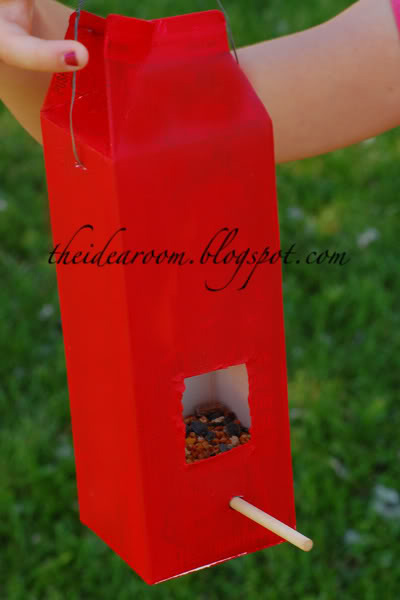 6 Make Some Bird Feeders using Milk Carton