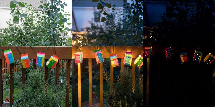1 Duct Tape Milk Carton Garden Lanterns