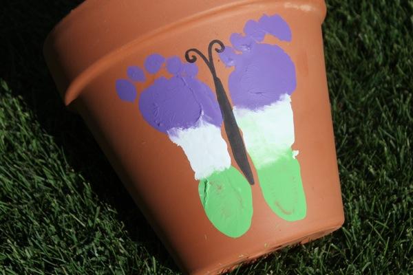 10 Footprint Butterfly Flower Pot