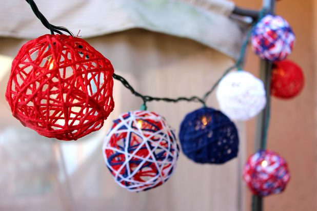 10 Patriotic Yarn String Lights