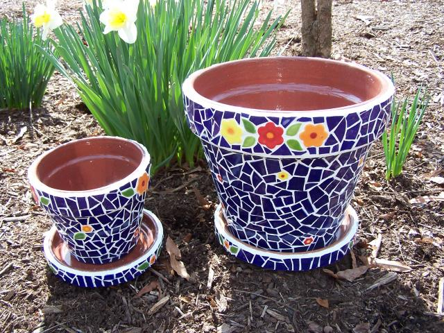 11 Make a Mosaic Flower Pot