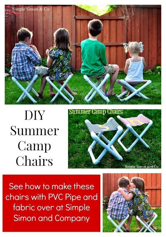 11 PVC Camp Chairs