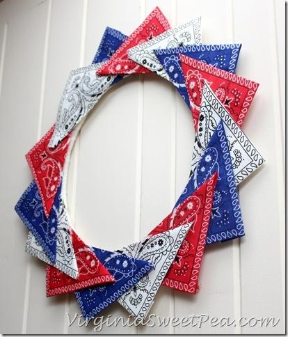 11 Patriotic Bandana Wreath