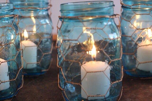 13 Canning Jar and Chicken Wire Lanterns