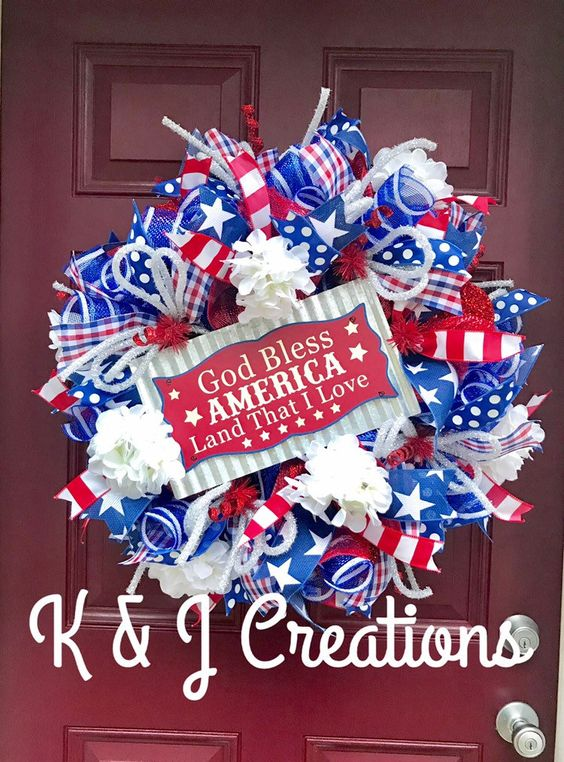 18 Patriotic Wreath, July 4th Wreath