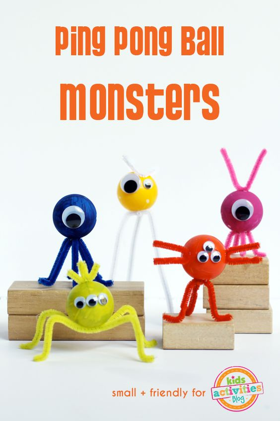 18 Ping Pong Ball Monster Craft
