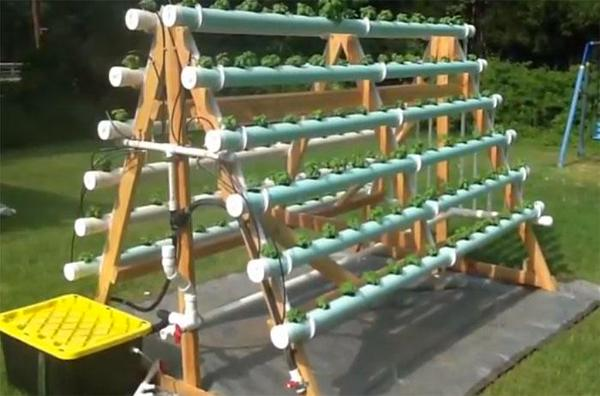 19 DIY A-Frame Hydroponic System