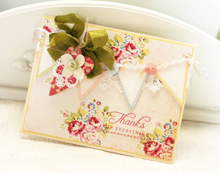 19 DIY Bunting and Buttons Card