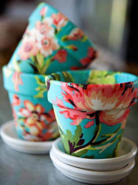 2 Cover the Flower Pots with Fabric