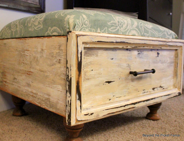 2 Old Drawer Ottoman