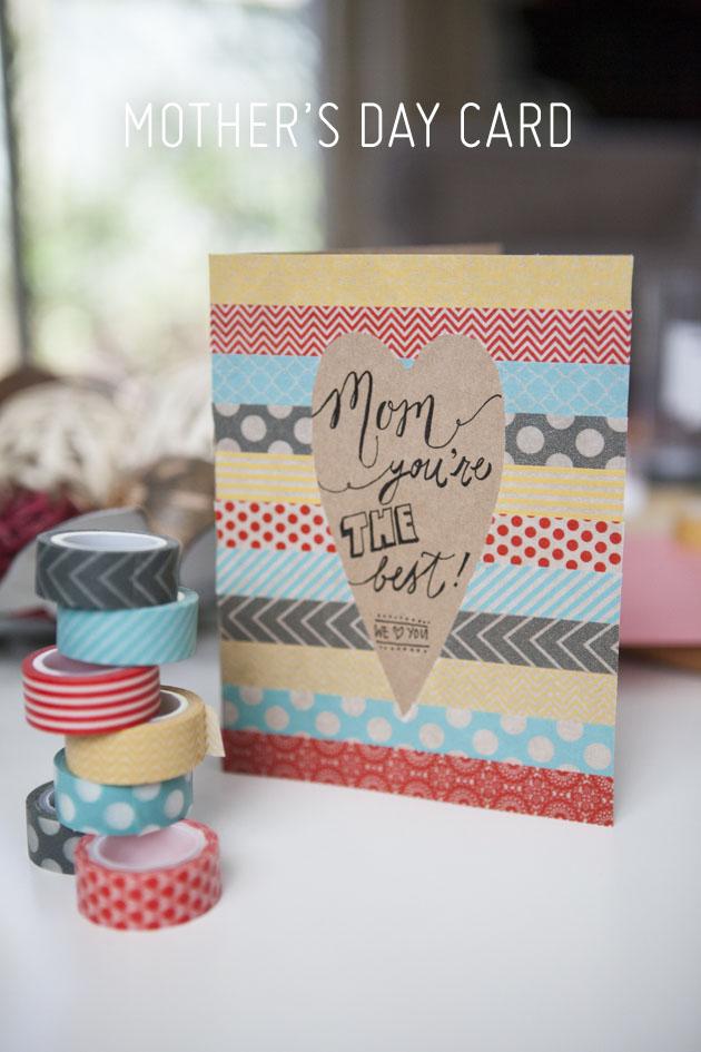2 Washi tape stripes card