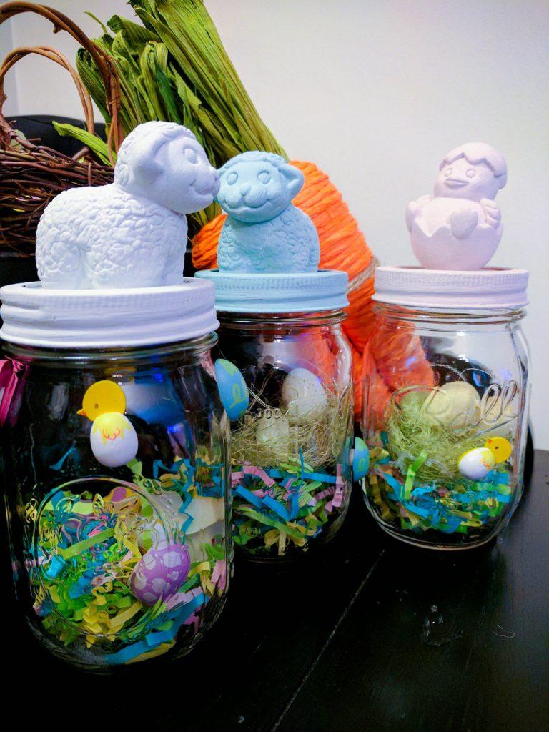 20 How To Make Adorable Easter Mason Jars
