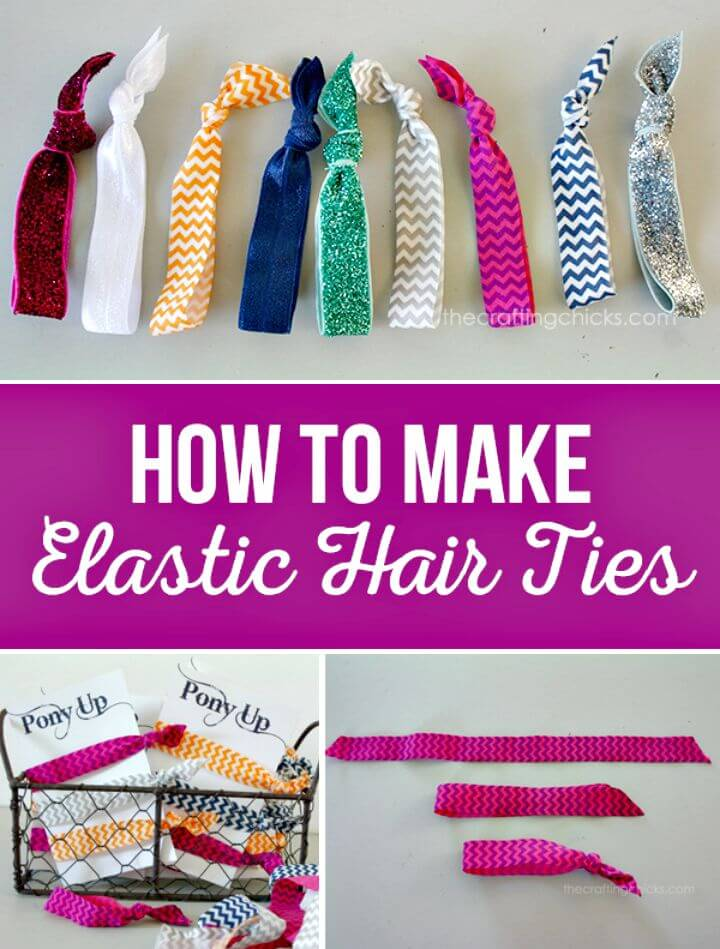 21 Make Your Own Elastic Hair Ties