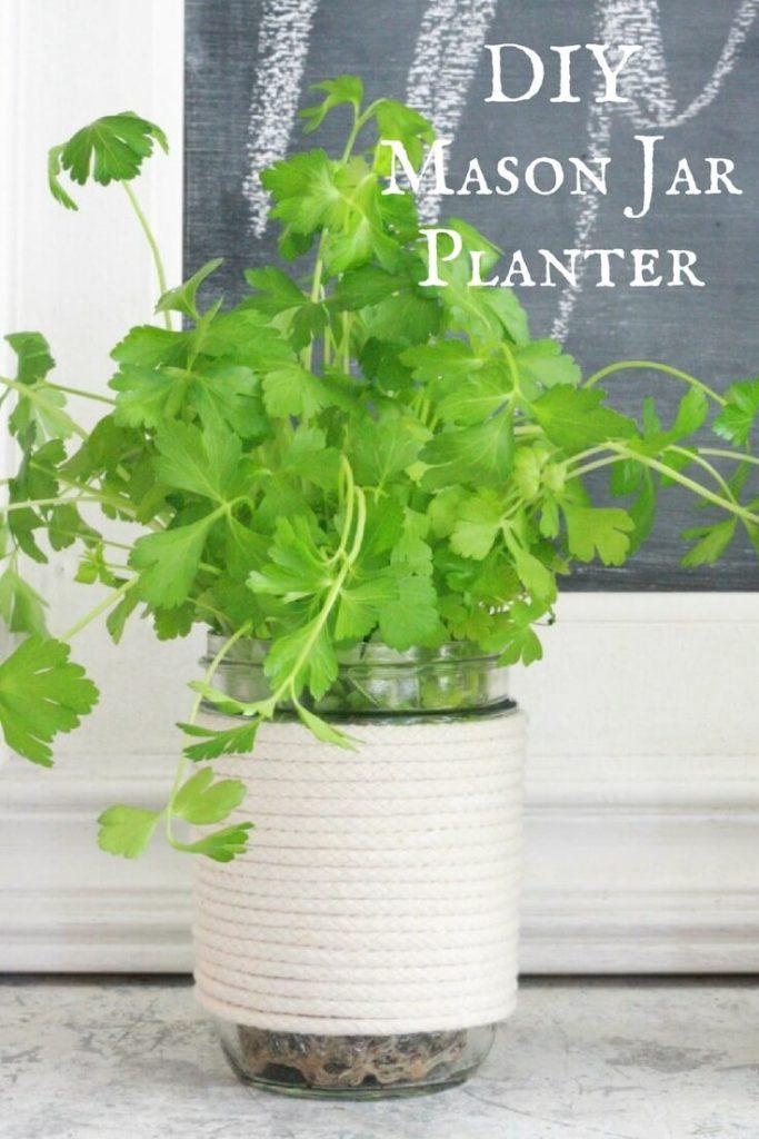 21 Mason Jar Herb Planters