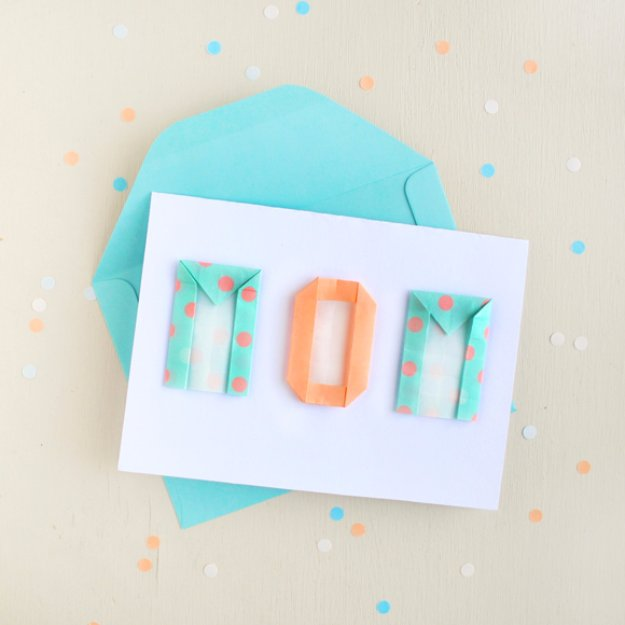 21 Mother's Day Card With Origami Letters