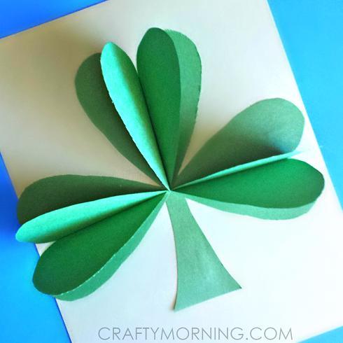 22 3D Paper Shamrock Craft For St. Patricks Day