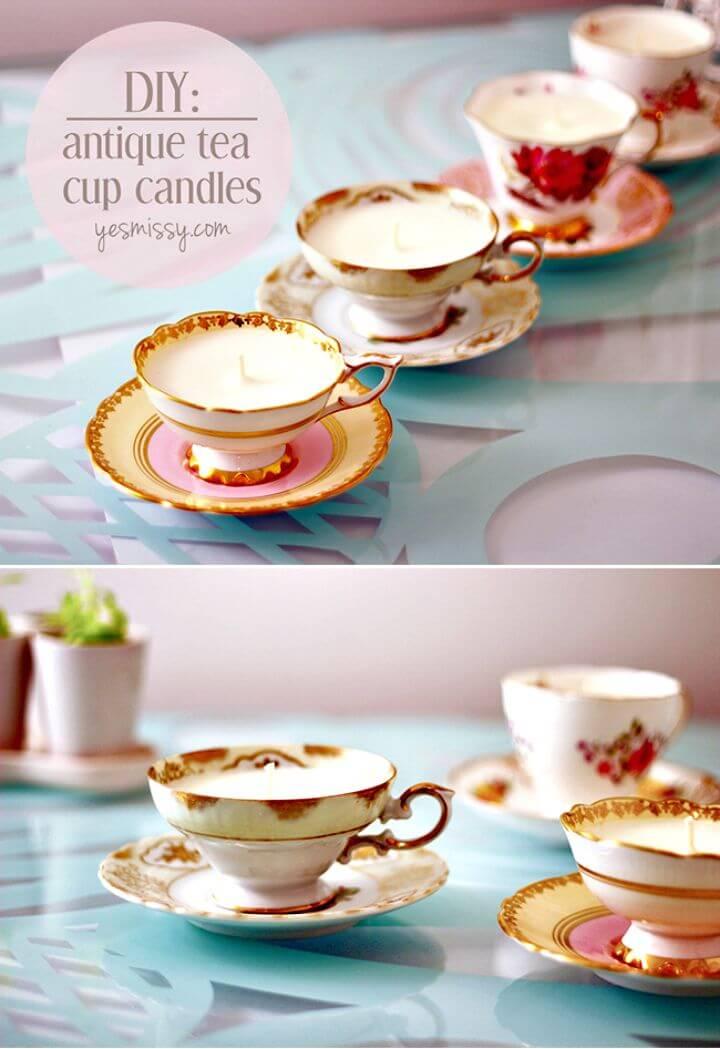 22 Adorable DIY Teacup Candles