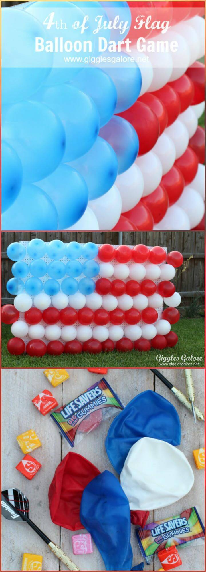 22 DIY 4th of July Balloon Dart Game