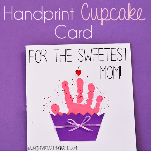 22 Handprint Cupcake Card